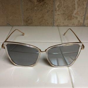 Accessories - Clear frame cat eye sunglasses